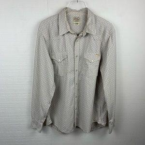 Lucky Brand Western Pearl Snap Print Shirt